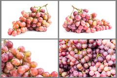 Collection of ripe grape fruit Stock Photos