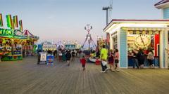 Casino Pier Seaside Heights TL Stock Footage
