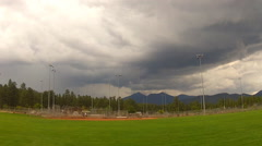 Thunderstorm Clouds Over Thorpe City Park- Flagstaff AZ Stock Footage