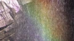 Narada Falls Rainbow Stock Footage