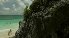 Tulum Mexico ocean - stock footage