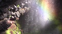 Narada Falls Water Rainbow Stock Footage