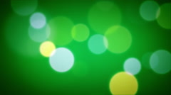Soft Focus Light Particles Green Stock Footage