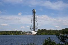 Cite de l'energie tower, shawinigan, quebec, canada Stock Photos