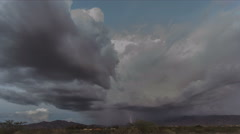 4K UHD lightning storm cell vacuum monsoon weather powerful strikes time lapse Stock Footage