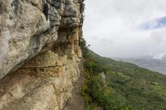 Ruins of the graves of revash, yerbabuena, amazonas region, peru, south ameri Stock Photos