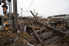 Tsunami strike, tona station Stock Photos