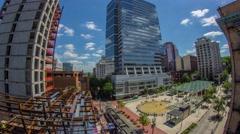 Portland Above Downtown Directors Park Stock Footage