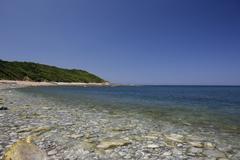 Atlantic coast near saint-jean-de-luz, donibane lohizune in basque, aquitaine Stock Photos