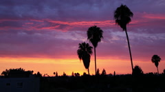 Sunset over Southern California 5 Stock Footage