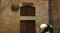 Jerusalem 4K Via Doloroza st VII 25P Stock Footage