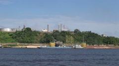 Manaus industry on the Amazon s Stock Footage