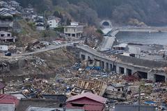 Tsunami strike, kamaishi Stock Photos