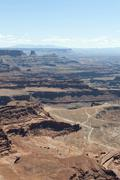 Eroded landscape, canyons, red sandstone, dead horse point overlook, dead hor Stock Photos