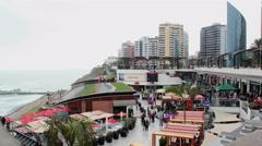 Larcomar megacomplex - Miraflores, Lima, Peru - Time lapse 4K - stock footage