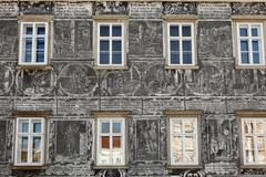Sgraffito house on the main square in retz, weinviertel, lower austria, austr Stock Photos