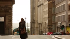Liverpool The Royal Liver building street Stock Footage