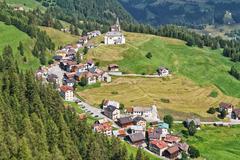 dolomiti - laste village - stock photo
