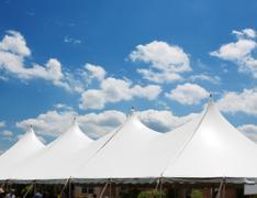 event tent - stock photo