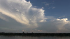 Dramatic cloud rising over Brazil's Amazon River Stock Footage
