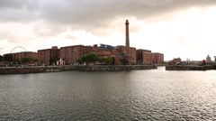 Liverpool Waterfront  Albert Dock on Sunset Stock Footage