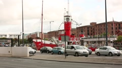 Liverpool Waterfront  Albert Dock Bar ship Stock Footage