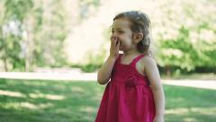 Stock Video Footage of Adorable Smiling Happy Little Girl