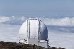 observatory on roque de los muchachos, la palma, canary islands, spain - stock photo