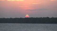 Amazon dramatic sunset  - stock footage