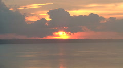 Stock Video Footage of Manaus sunset on Rio Negro