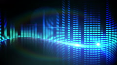 Blue pixel design of music volume Stock Footage