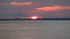 Amazon River sunset timelapse  Stock Footage