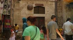 Jerusalem 4K Via Doloroza st VII wide  25P Stock Footage
