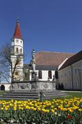ranshofen monastery in braunau am inn, innviertel, upper austria, austria, eu - stock photo