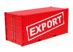 The export container Stock Illustration