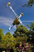 Stock Photo of the vertigo attraction in tivoli, copenhagen, denmark, europe