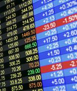 Display of stock market price quotes Kuvituskuvat