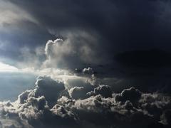 Ominous cloudscape - stock photo