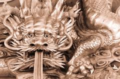 Chinese dragon carve Stock Photos
