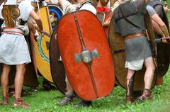 Historical reconstruction of a battle Stock Photos