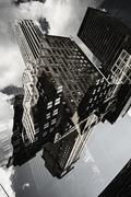 Multiple exposure of buildings in Manhattan, New York, USA Stock Illustration