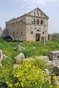 Ruins from the byzantine era in daire simeon, dead cities near aleppo, syria, Stock Photos