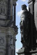 section of the memorial to friedrich august, hofkirche chruch, dresden, saxon - stock photo