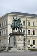 monument ludwig i, king of bavaria, munich, bavaria, germany, europe - stock photo