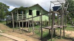 Amazon village house Stock Footage