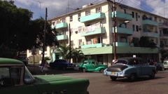 Stock Video Footage of Classic old cars traffic in Havana, Cuba