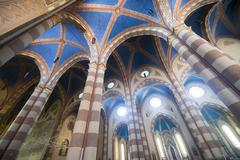 cathedral of alba (cuneo, italy), interior - stock photo