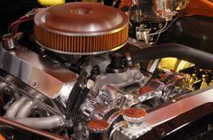 Custom muscle car engine Kuvituskuvat