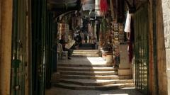 Jerusalem 4K Via Doloroza street  25P Stock Footage