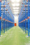 refrigerated warehouse - stock photo